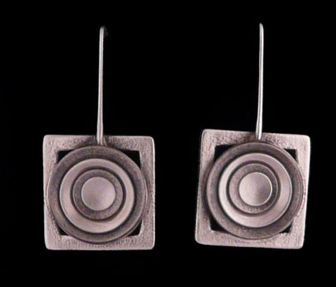 Kenneth Pillsworth Jewelry - Framed Round Earrings