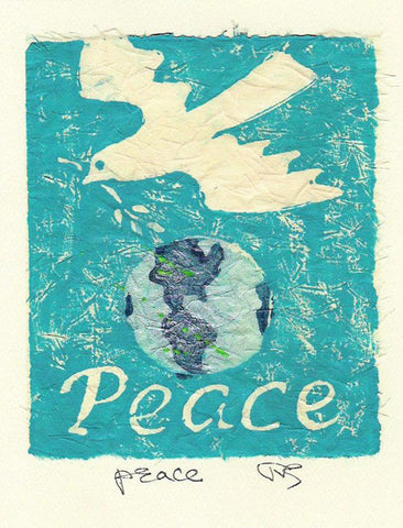 Salmonberry Studio - Peace Note Card