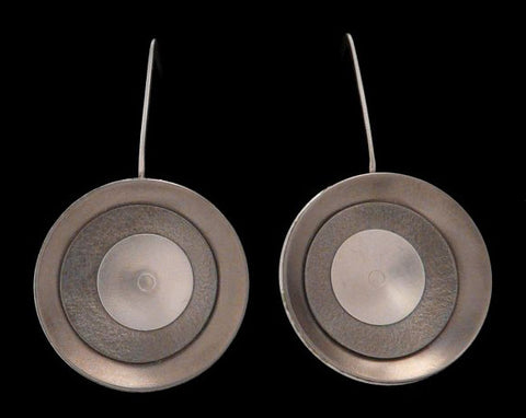 Kenneth Pillsworth Jewelry - Large Concave Earrings