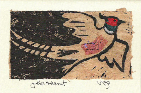 Salmonberry Studio - Pheasant Note Card