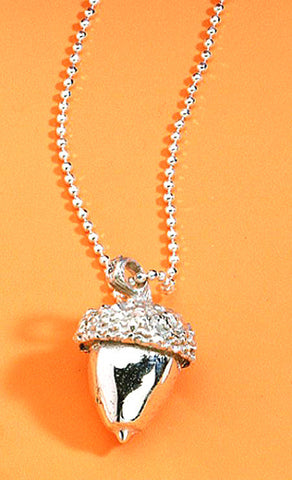Vilmain Pewter - Acorn Necklace in Sterling Silver