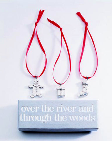 Vilmain Pewter - Over The River Ornaments