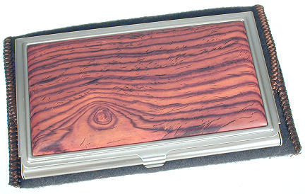 Davin & Kesler Woodworking - Business Card Case in Cocobolo