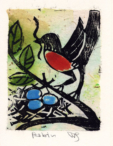 Salmonberry Studio - Robin Note Card