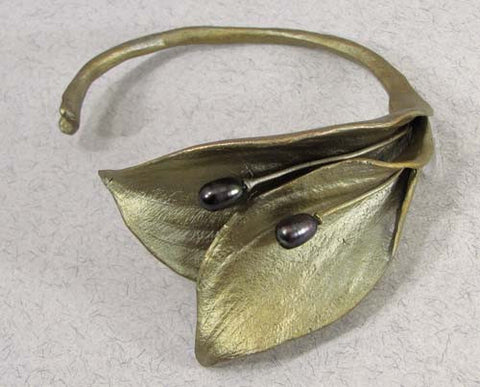 Silver Seasons - Michael Michaud - Hosta Cuff Bracelet