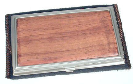 Davin & Kesler - Woodworking - Business Card Case - Koa