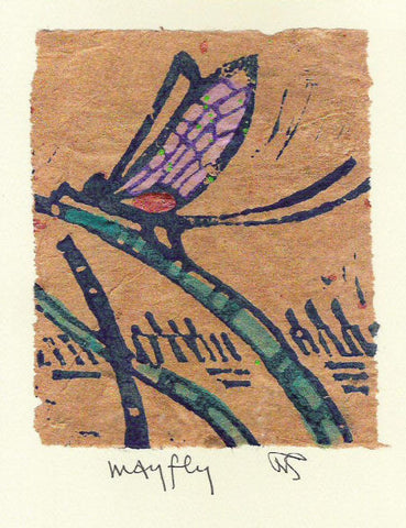Salmonberry Studio - Mayfly Note Card