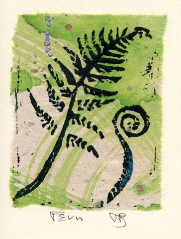 Salmonberry Studio - Fern Note Card