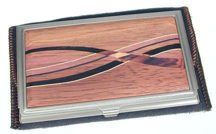 Davin & Kesler - Woodworking - Business Card Case - Koa with Assorted Inlaid  Hardwoods