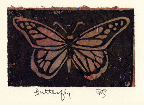 Salmonberry Studio - Butterfly Note Card
