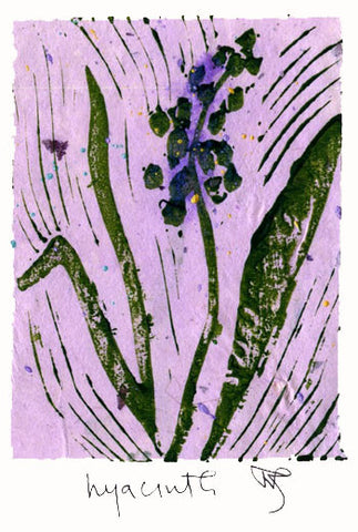 Salmonberry Studio - Hyacinth Note Card