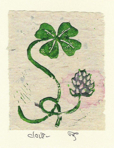 Salmonberry Studio - Clover Note Card
