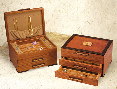 Mike Fisher - Heartwood Creations - Urban Craftsman Two Drawer Jewelry Box
