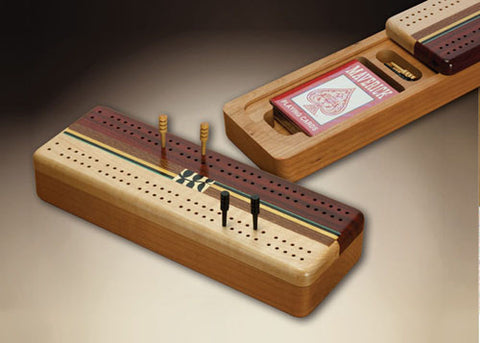 Mike Fisher - Heartwood Creations -  Marquetry Cribbage Board