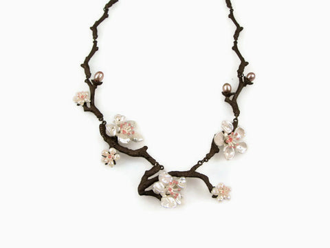 Silver Seasons - Michael Michaud - Cherry Blossoms Necklace