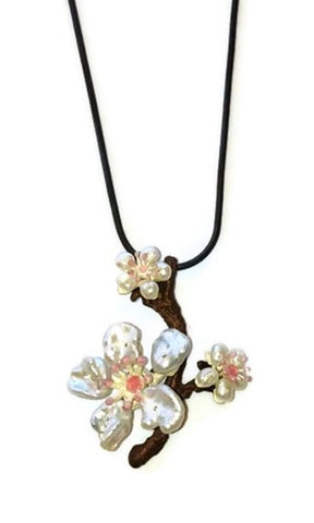 Silver Seasons - Michael Michaud - Cherry Blossoms Pendant