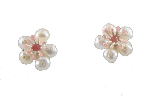 Silver Seasons - Michael Michaud - Cherry Blossoms Petite Post Earrings