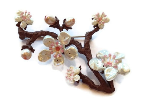 Silver Seasons - Michael Michaud - Cherry Blossoms Pin