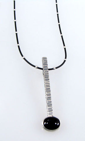 Renee Ford - Panicmama Jewelry -  Zen Stick Pendant with Onyx
