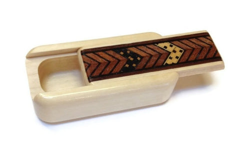 Mike Fisher - Heartwood Creations - Natural Zigzag Inlay Secret Box