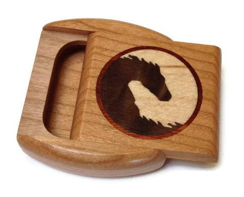Heartwood Creations - Yin Yang Horse Marquetry Secret Box