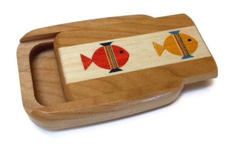 Mike Fisher - Heartwood Creations - Secret Box - Fish Inlay