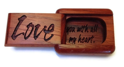 Mike Fisher - Heartwood Creations - Secret Boxes -Laser Love Box