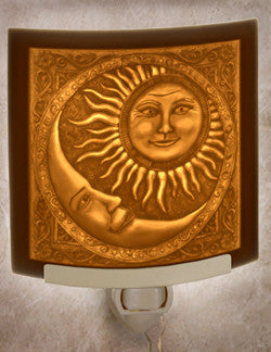 The Porcelain Garden - Sun & The Moon - Lithophane Night Light