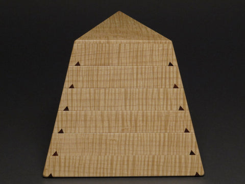 Eugene Watson - Watson Woodworks - Curly Maple Trapezoid Box