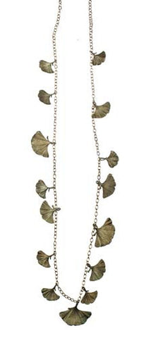 Silver Seasons - Michael Michaud - Long Ginkgo Necklace