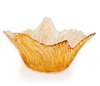 Hudson Beach Glass - Marsh Grass Bowl in Citrine