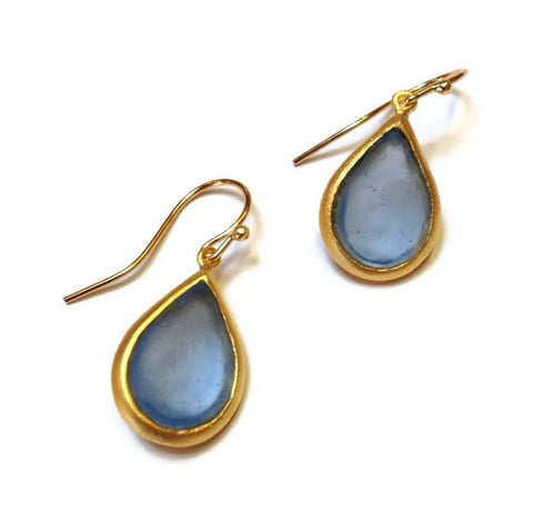 Michael Vincent Michaud Jewelry - Light Blue Pear Drop Earrings