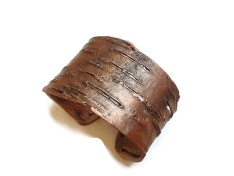 Silver Seasons - Michael Michaud - Birch Bark Cuff Bracelet in Silver