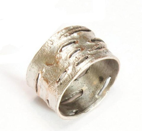 Silver Seasons - Michael Michaud - Birch Bark Medium Ring