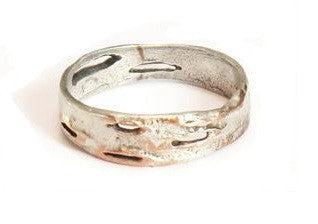 Silver Seasons - Michael Michaud - Birch Bark Narrow Ring