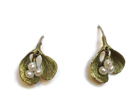 Silver Seasons - Michael Michaud - Mistletoe Earrings