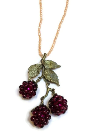 Silver Seasons - Michael Michaud - Raspberry Pearl Pendant