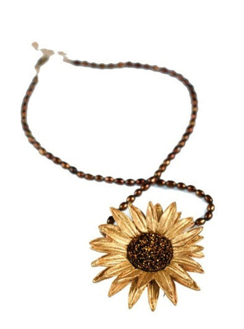 Silver Seasons - Michael Michaud - Sunflower Necklace