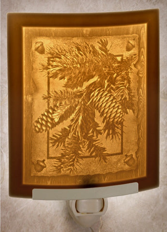 The Porcelain Garden - Pine Cones Lithophane Night Light