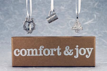 Vilmain Pewter - Comfort and Joy Ornament Set