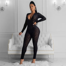 Load image into Gallery viewer, Leopard Queen Mesh Jumpsuit