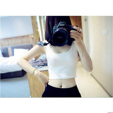 Load image into Gallery viewer, Sleeveless U Neck Crop Top