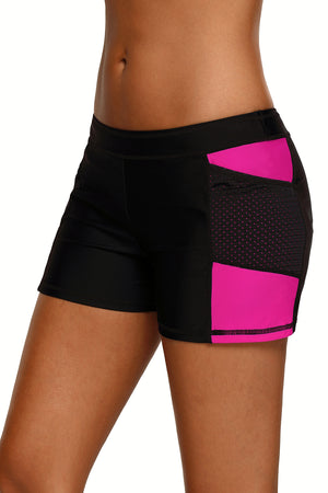 Rosy Side Mesh Insert Sports Boardshort