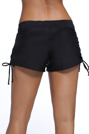 Black Ruched Side Swimsuit Bottom