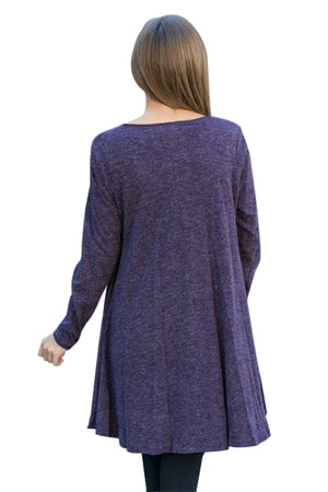 Orchid Swingy Layered Long Sleeve Tunic