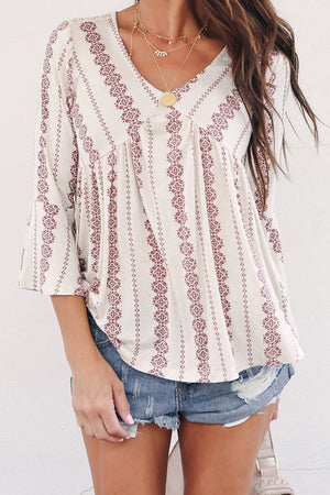 Red Valley of The Dolls Babydoll Blouse
