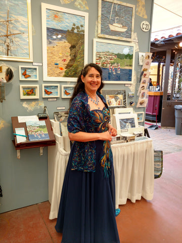Loretta Alvarado - Laguna Art-A-Fair booth