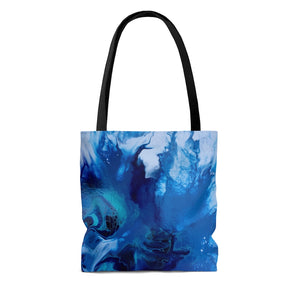 Tote Bag - Abstract Blue Flower, Meryl Epstein