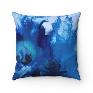 Pillow - Abstract Blue Flower, Meryl Epstein