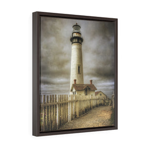 Framed Gallery Wrap Canvas - Pigeon Point - 2 Fence, Michael Cahill